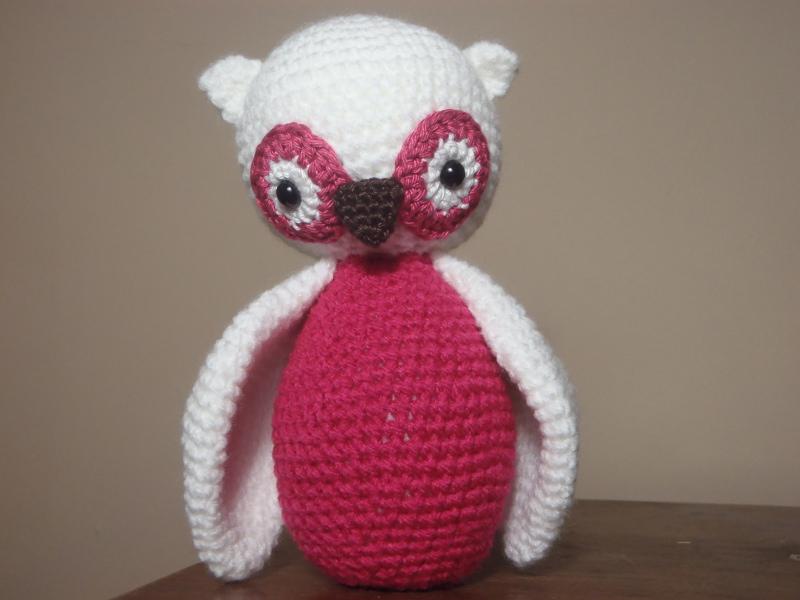 Háčkovaná sovička - růžová